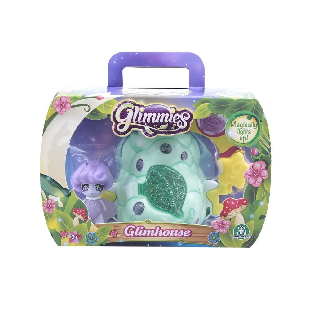 Glimmies Small Green Glimhouse and Purple Glimmie Glimmies Llight-Up Function