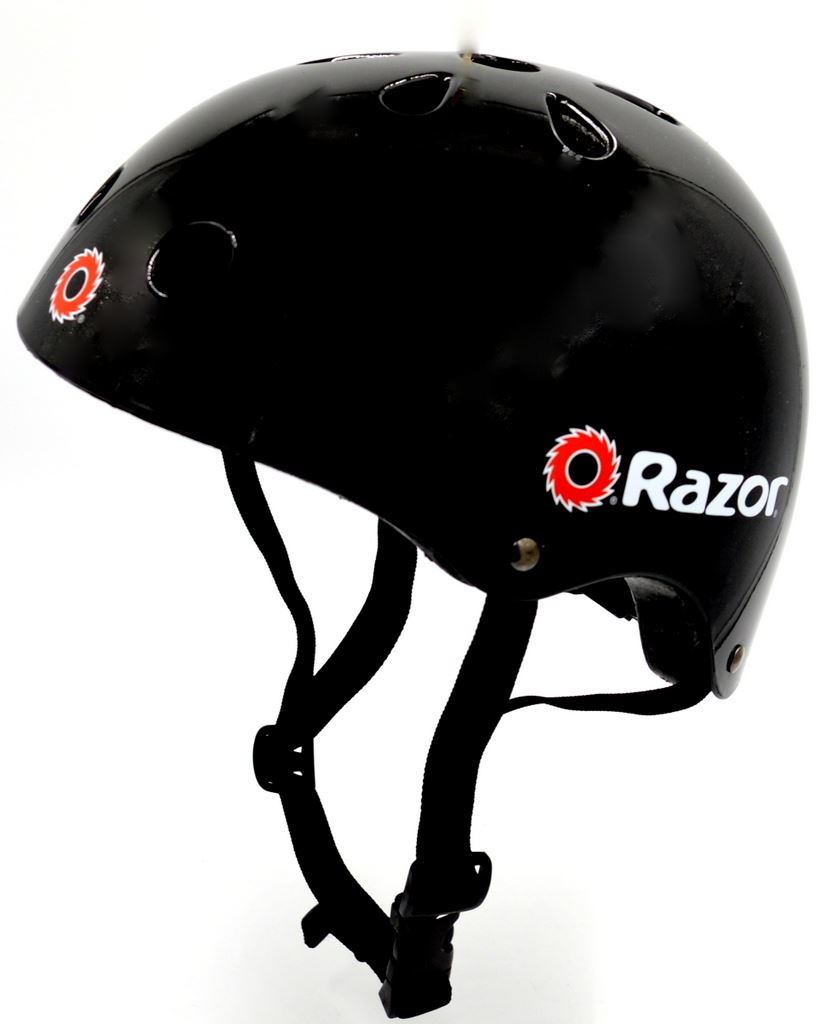 2f528669852 Razor V-11 Kids Multi-Sport Helmet Children Protection Safety Black Gloss