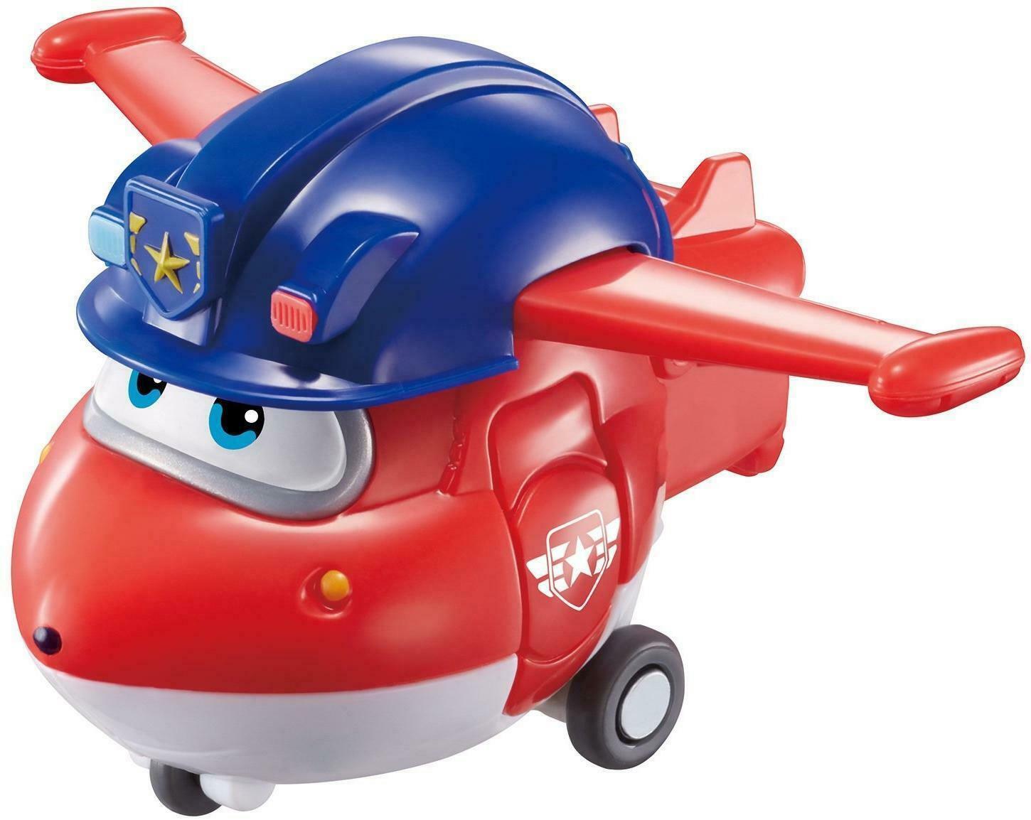 Jett Flugzeug Transform a Bot Super Wings Mini Transform Figur 5,5 cm