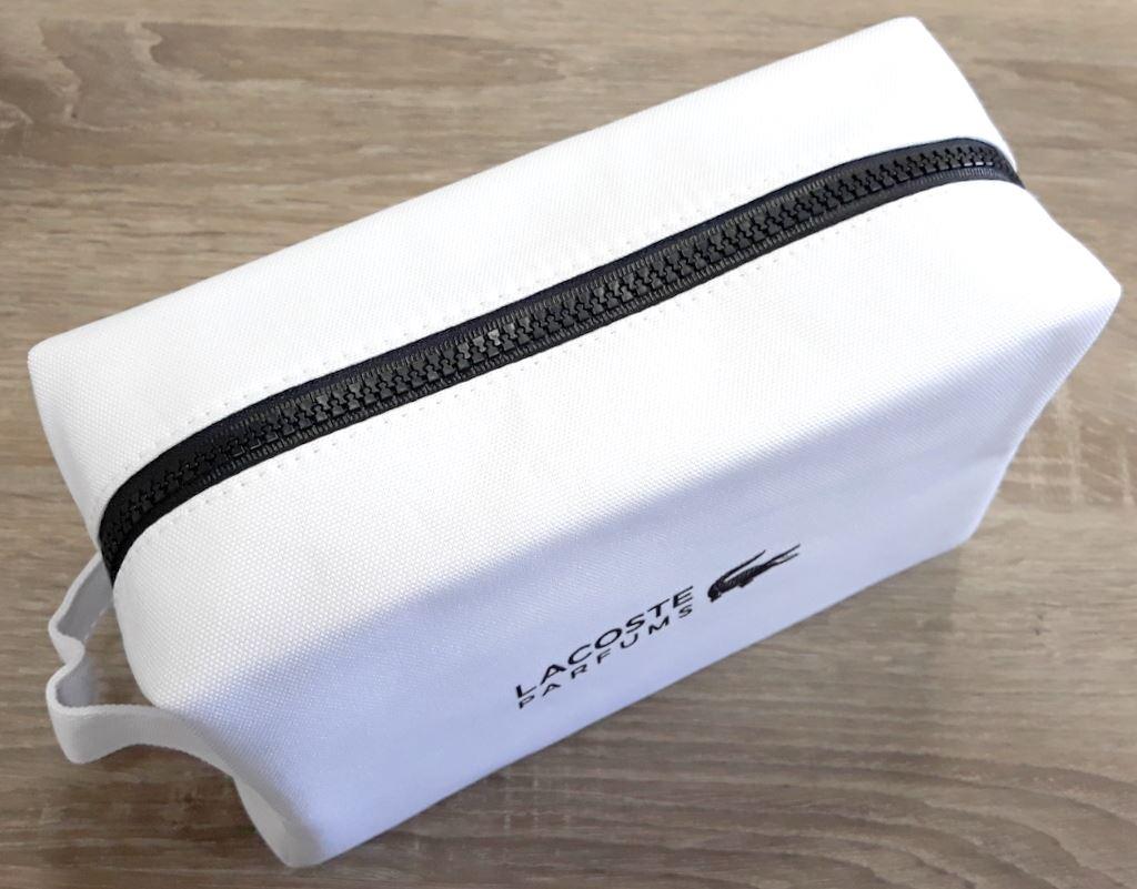 58094a2dc34 Lacoste Original Men's WhiteToiletry Wash Pouch Shaving Bag ...