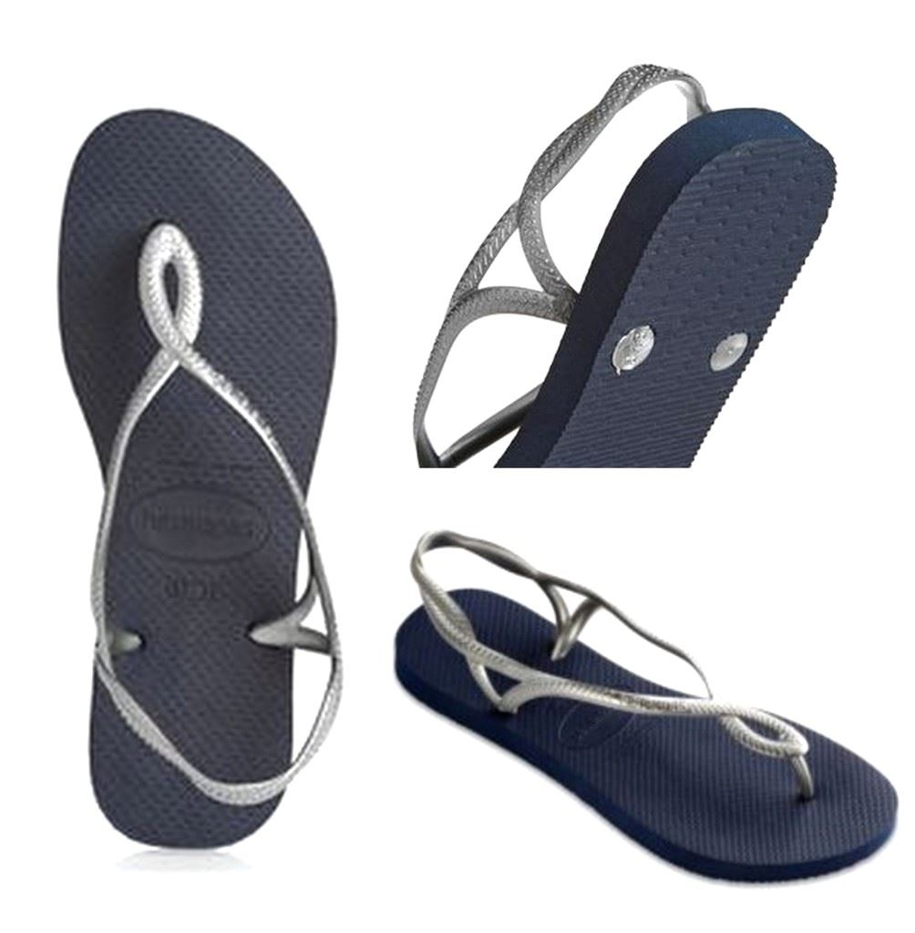 9c4e09d0c00d5 Havaianas Brazil Women Flip Flops Luna Sandal Thongs Steel Grey All Size