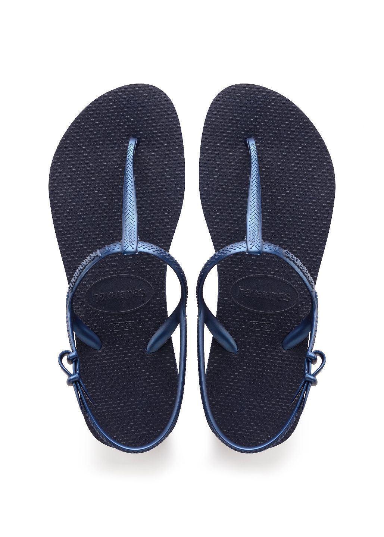 5e4a0a5fcbe0 Havaianas Slim Women Freedom Navy Blue Rubber Flip Flops All Size