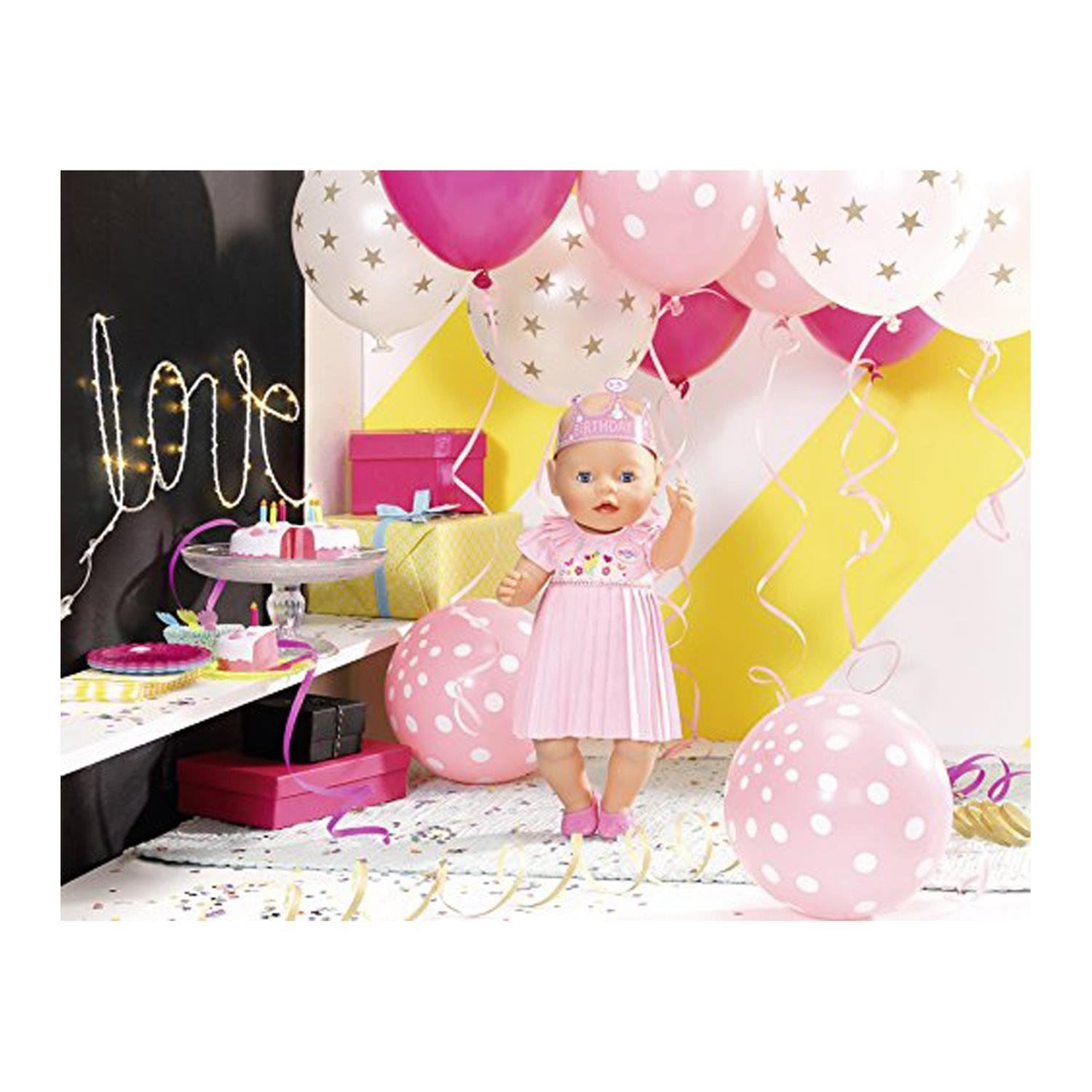 Details about Zapf Creation Baby born Interactive Happy birthday Playset Realistic Function