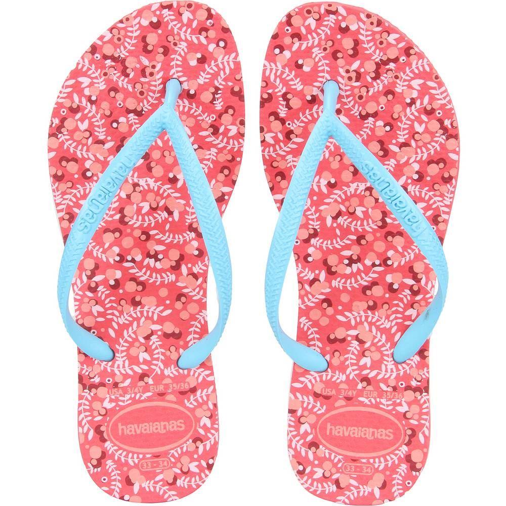 Details about Havaianas Slim Rubber Flip Flops Women Romance Coral CF 37-38  BR 39-40 EU 8 US 95e42fea105e9