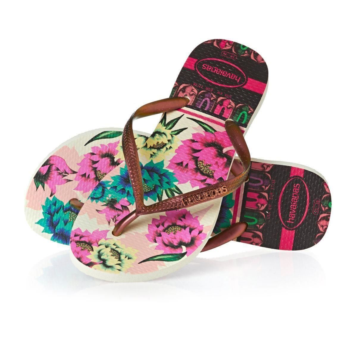 Havaianas Womens Flip Flops Slim Tropical Sexy Sandals -1158