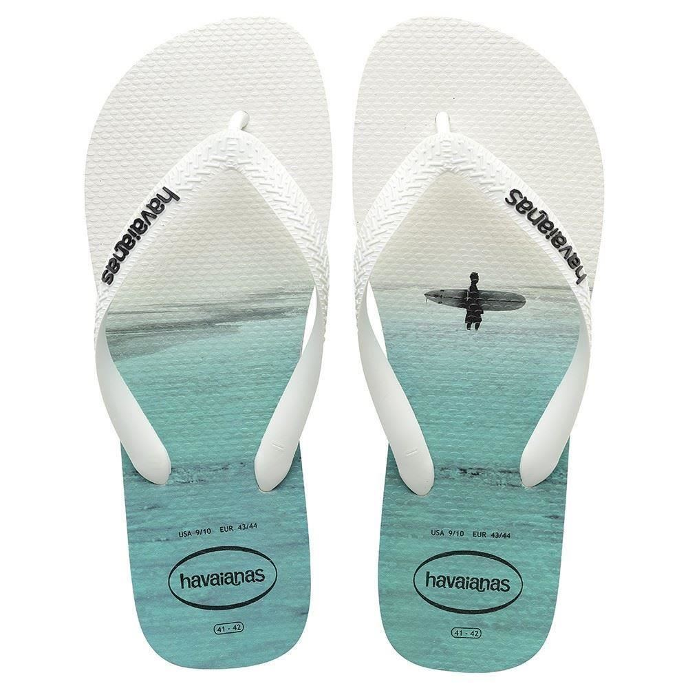 3dae40ea6 Havaianas Hype Photo Print White Black Grey Men Flip Flops All Sizes ...