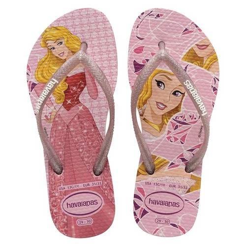 219ad6604b432 Havaianas Slim Kids Girls Princess Disney Frozen Aurora Cinderella Flip  Flops
