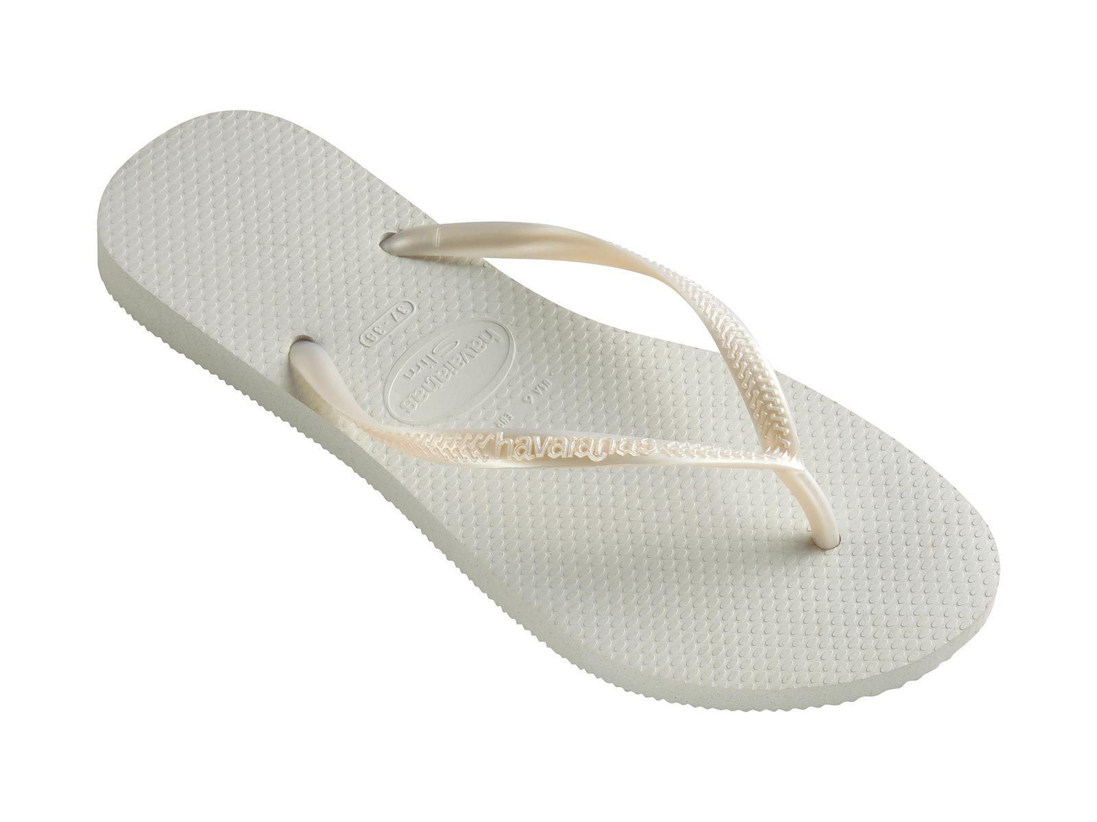442e04eb165ad1 Details about Havaianas Slim Brazil Women s Flip Flops White Size US-6  EUR-37 38