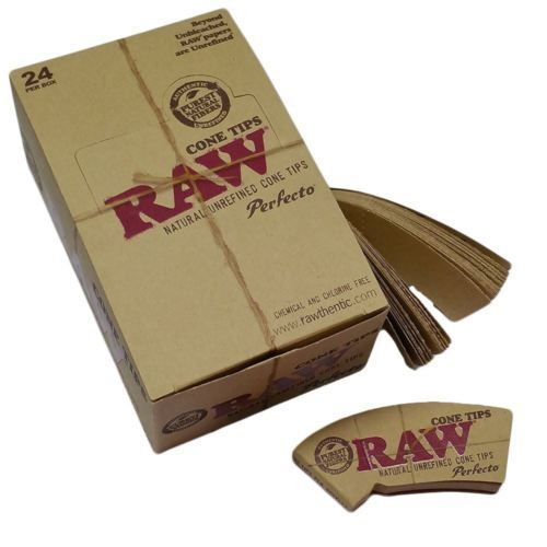 Raw Cone Natural Hemp Amp Cotton Perfecto Filter Tips Roach
