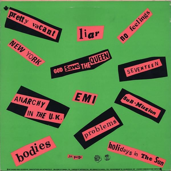 Never Mind The Bollocks Here S Canada 1977 Sex Pistols