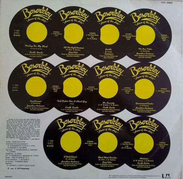 Beserkley Chartbusters Volume 1 Uk 1975 Various Ebay
