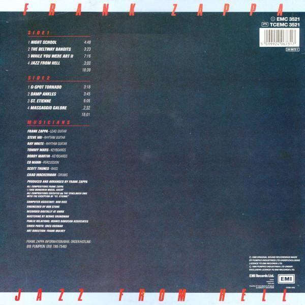 Jazz From Hell Uk 1986 Frank Zappa Ebay
