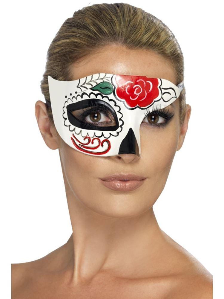Kostümfest #DE Mexikanischen Tag der Toten Halb Augen-Schablone