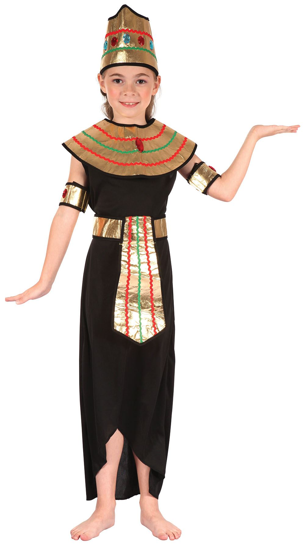 Queen-of-the-Nile-Cleopatra-Egyptian-Girls-Fancy-  sc 1 st  eBay & Queen of the Nile Cleopatra Egyptian Girls Fancy Dress Costume ...