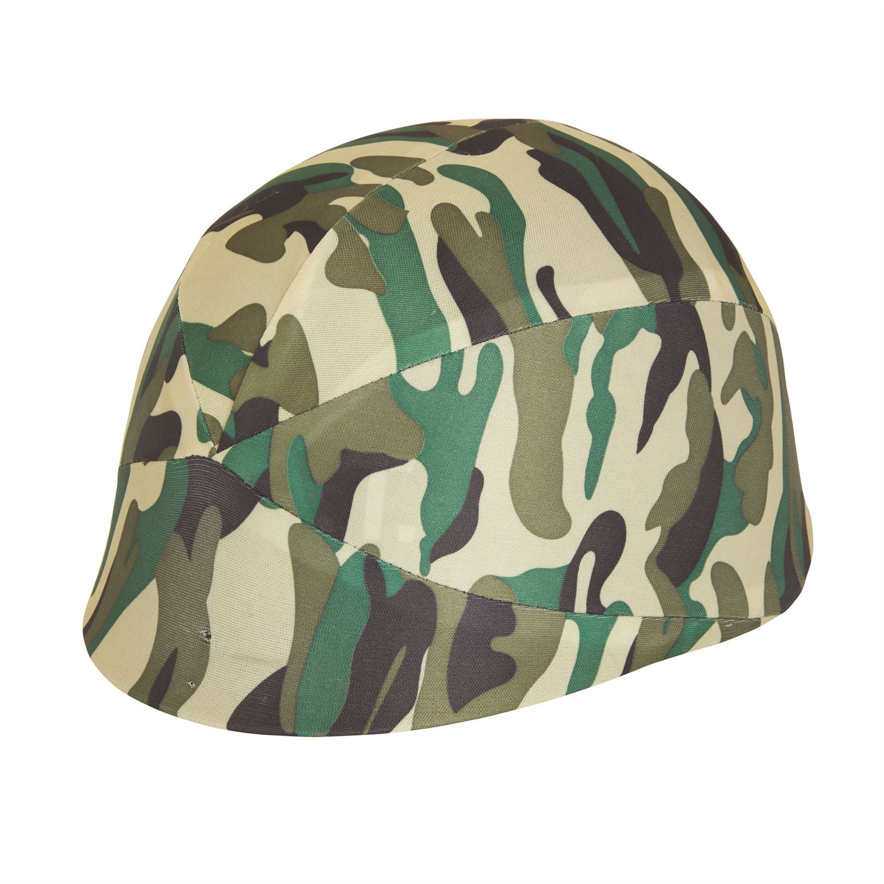 Camouflage Helmet Fabric Cover Hat War Soldier Childs Fancy Dress Accessory