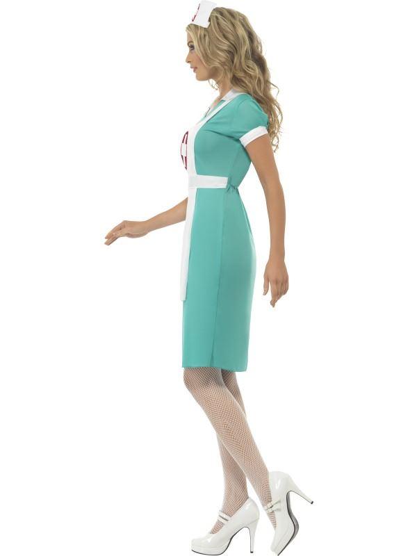 Scrub Nurse Costume Hospital Fancy Dress UK Size 8-10