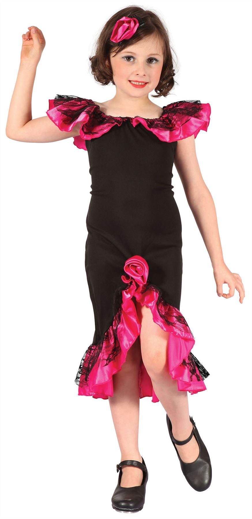 Rumba Girl Spanishsalsa Blackpink Medium Childrens Fancy Dress
