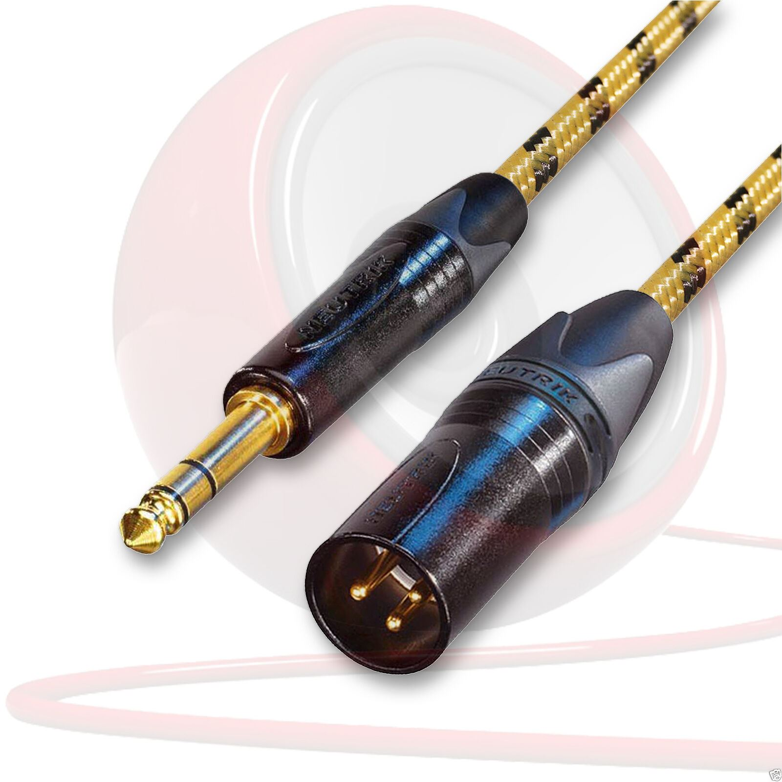 Angled Jack to 3 Pin XLR Female Lead Sommer Club Tweed /& Neutrik Connectors