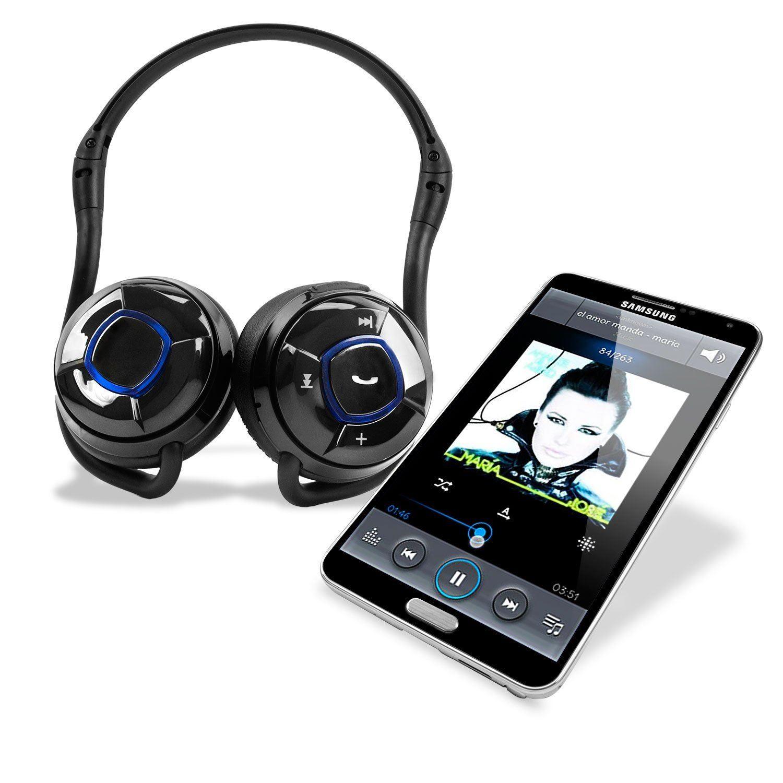 brandneu x 1 kabellos bluetooth stereo headset mit. Black Bedroom Furniture Sets. Home Design Ideas