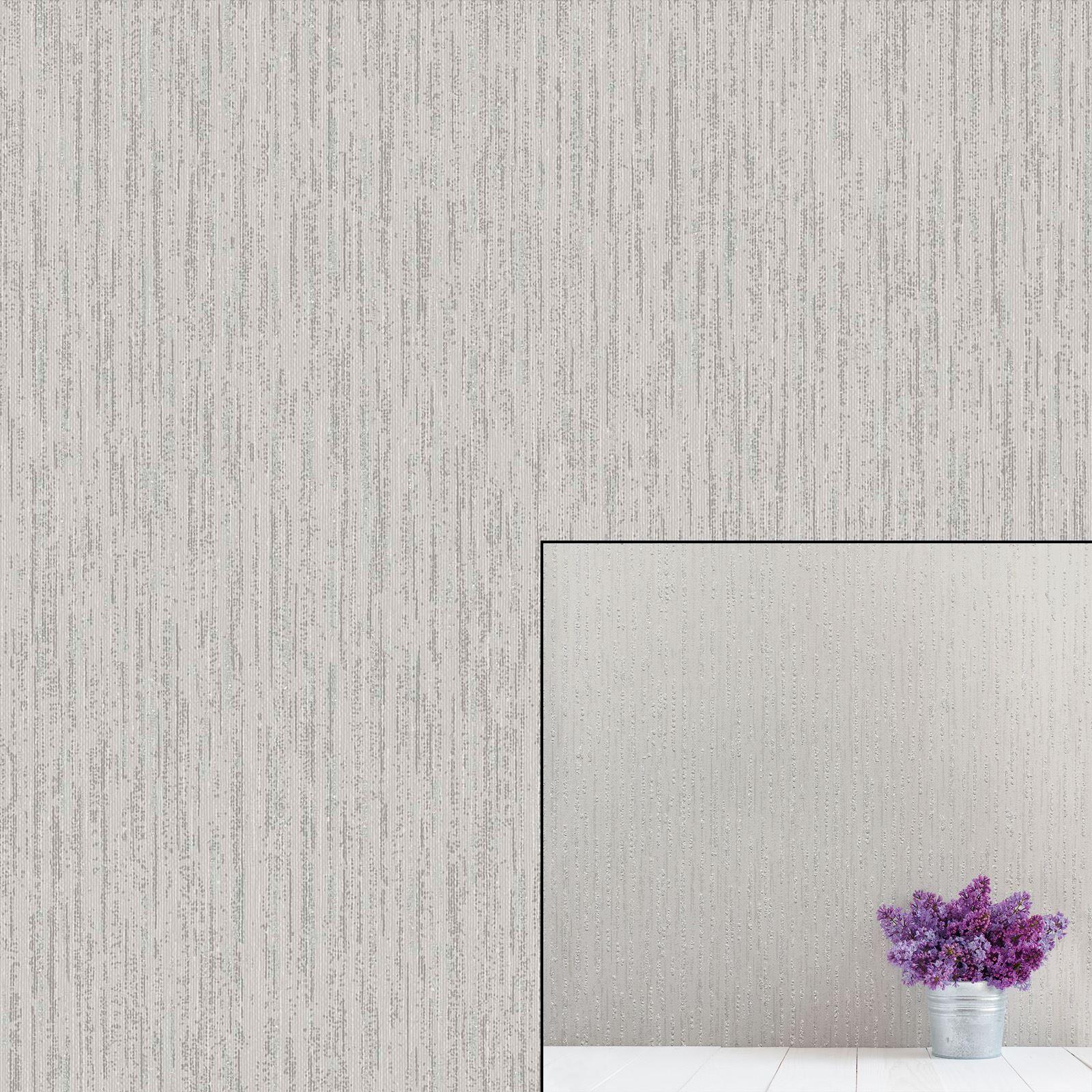Coloroll Star Texture Grey Silver Metallic Glitter