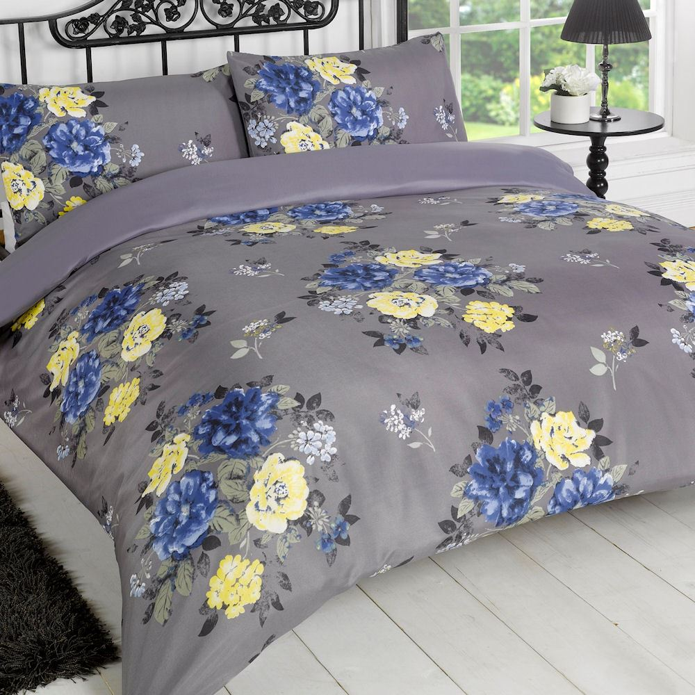 Contemporary Abstract Animal Print Floral Duvet Cover