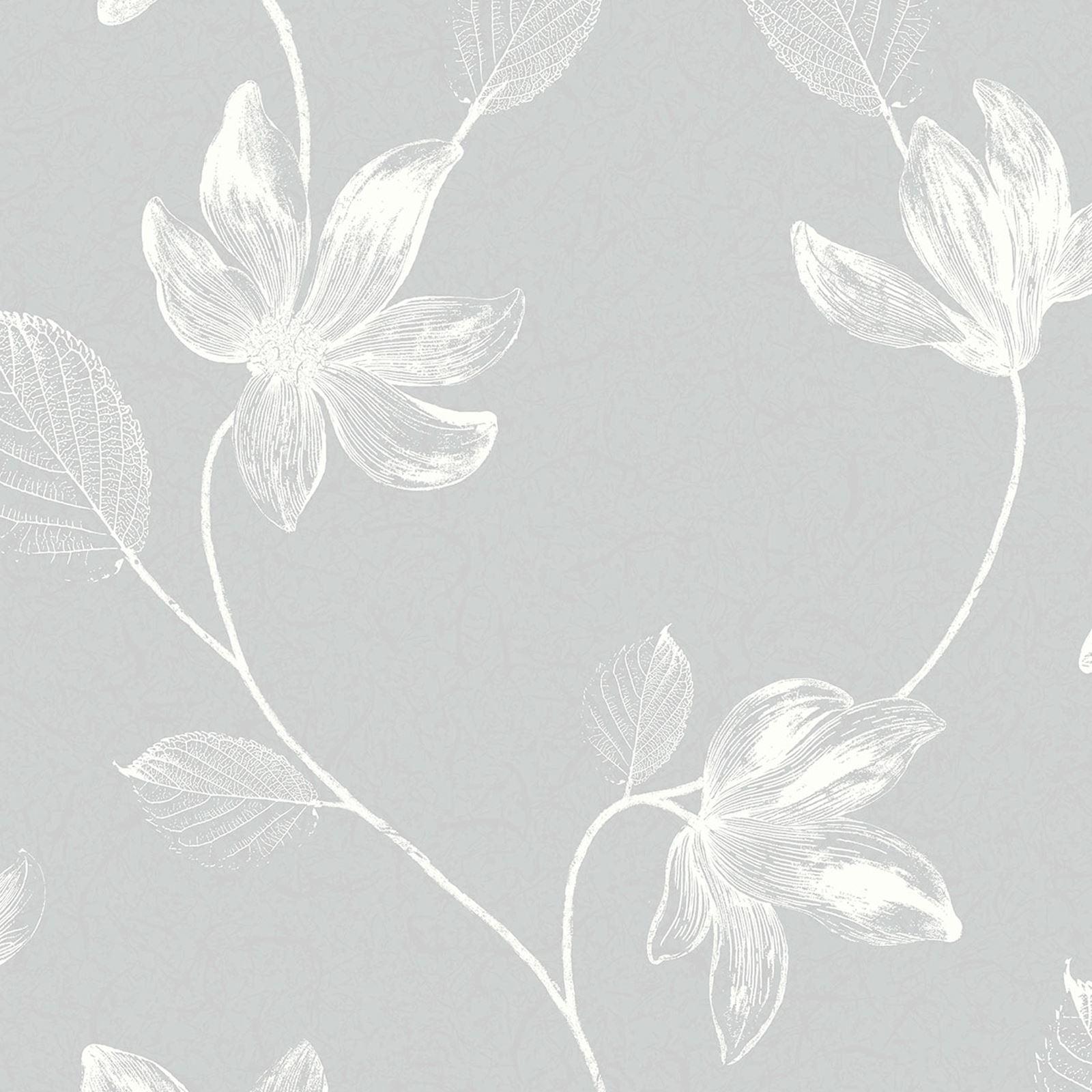 Crown florence grey white floral vinyl coated m1244 wallpaper roll crown florence grey white floral vinyl coated m1244 mightylinksfo