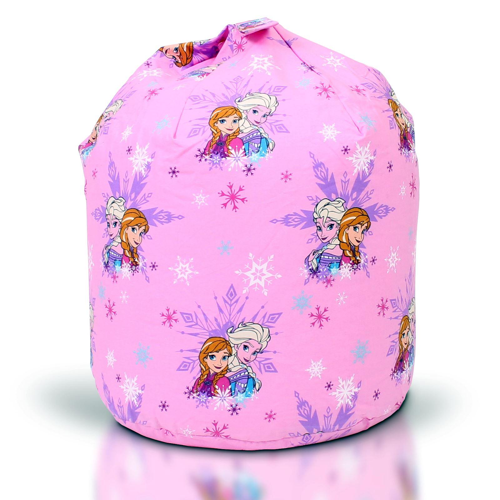 Disney-Frozen-Elsa-Anna-Olaf-Kids-Childrens-Girls-Pink-Bean-Bag-Refill-Cover