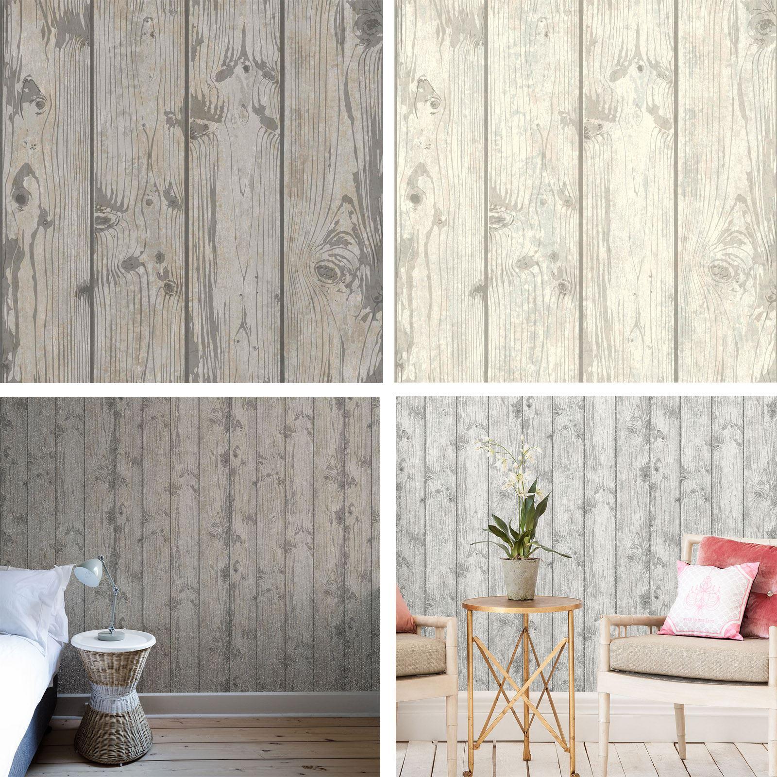 Crown Luxe Windward Grey Wood Effect Glitter Luxury Italian Vinyl