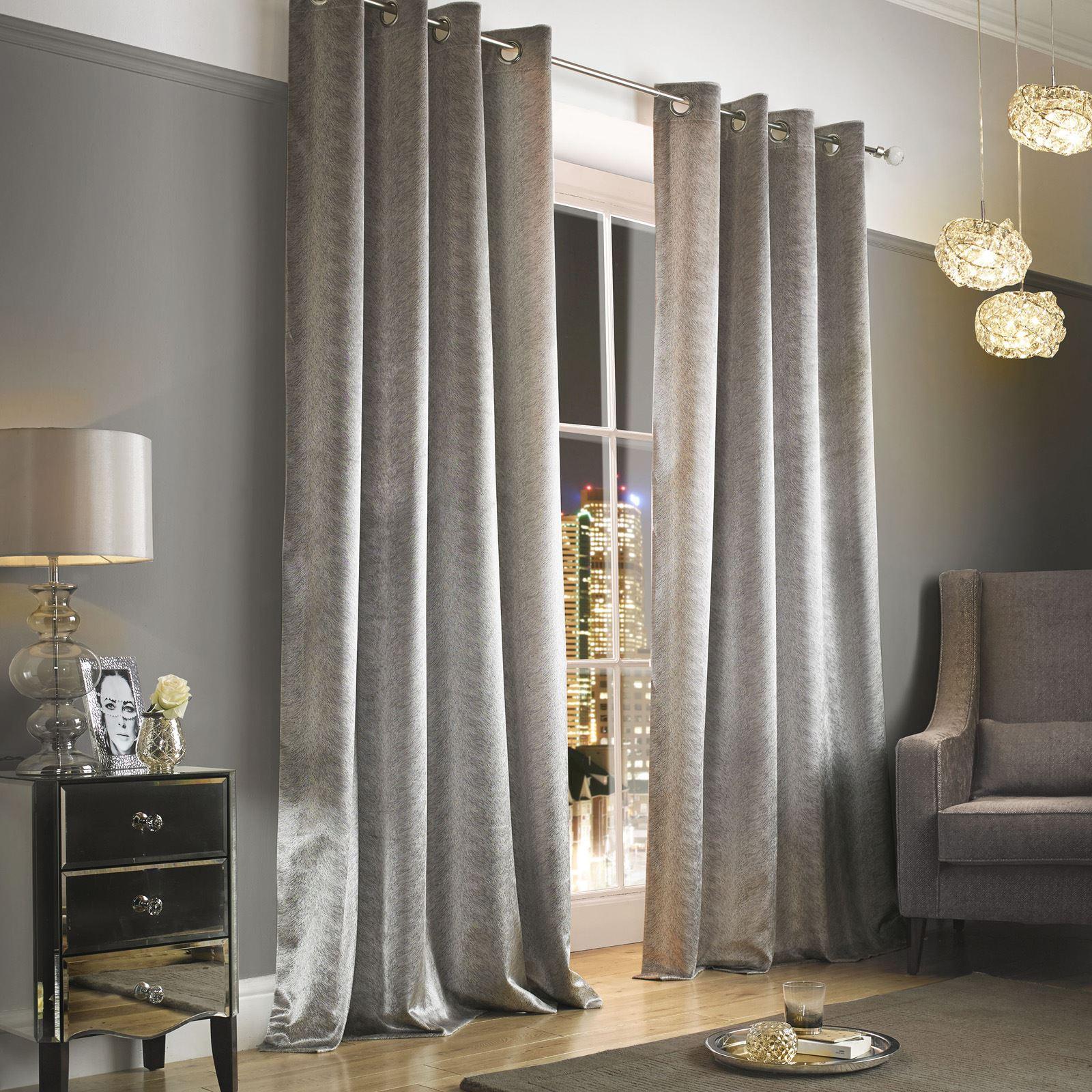 Kylie minogue adelphi curtains mist truffle caramel silver