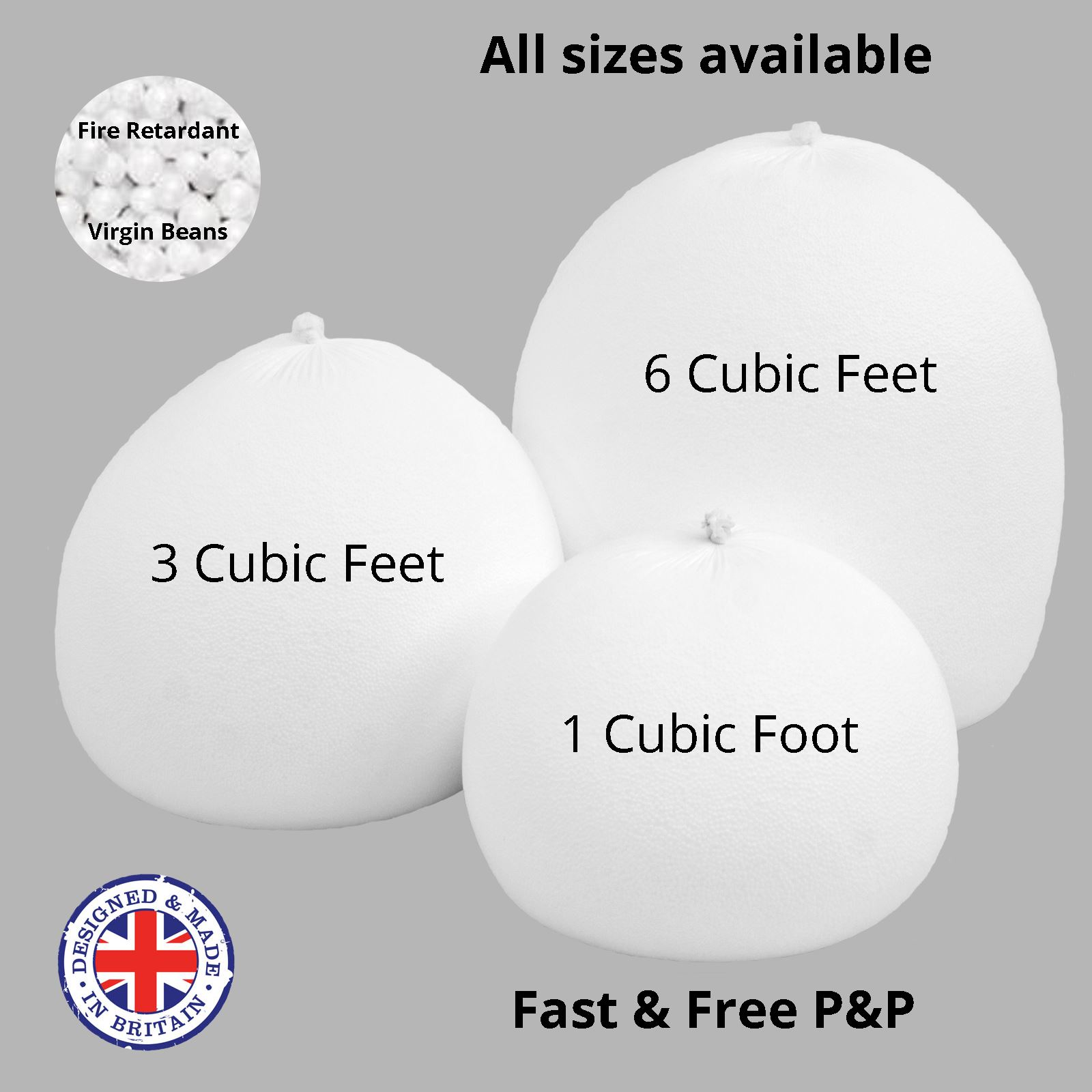 Bean Bag Top Up Filler Bead Polystyrene Balls Booster Filling Refill Beans Ebay
