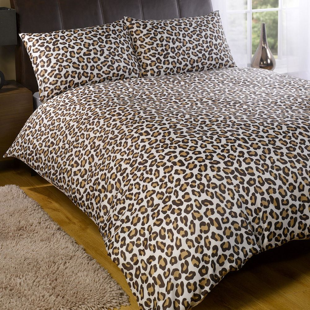 Leopard print sheets, comforters, duvet covers, throw blankets, and bedding sets can transform the look of a bedroom in an instant. Shop online for satin, cotton, and plush leopard print bed linens and bring energetic style to your room.