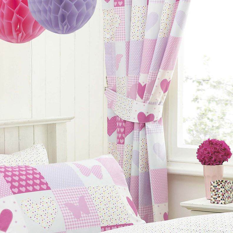 Textile Warehouse Pink Patchwork Girls Kids Childrens Butterfly