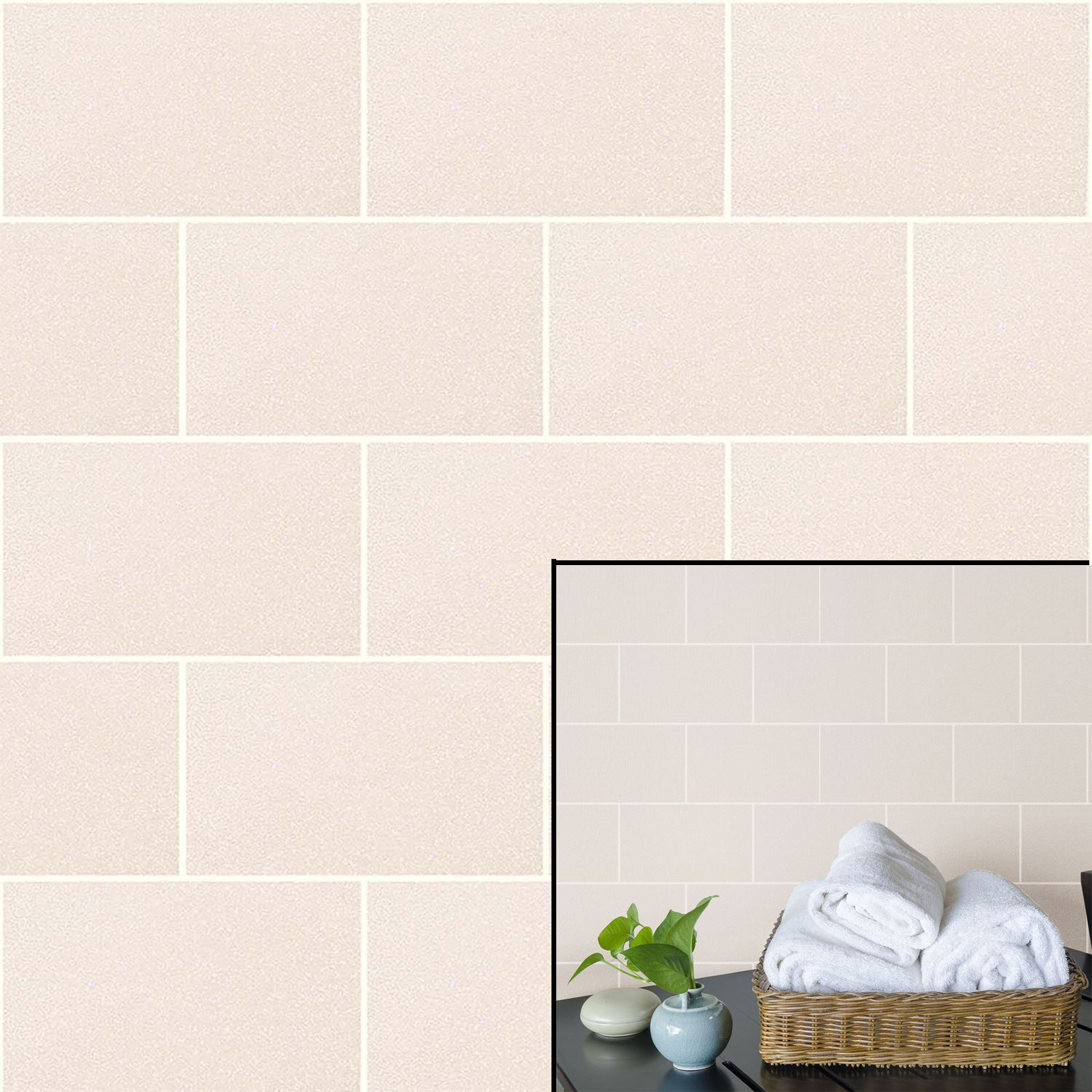 Crown london tile champagne cream urban brick effect glitter feature make your walls sparkle and be effortlessly on trende crown london tile textured wallpapers bring a contemporary urban brick effect wallpaper to any dailygadgetfo Images