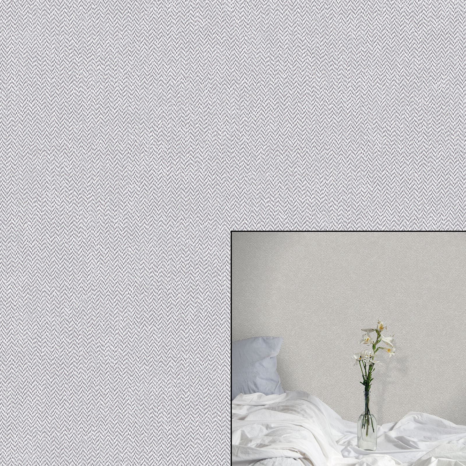 Crown Cotton Tweed Soft Grey White Paste The Wall Feature ... for Soft White Cotton Texture  585ifm