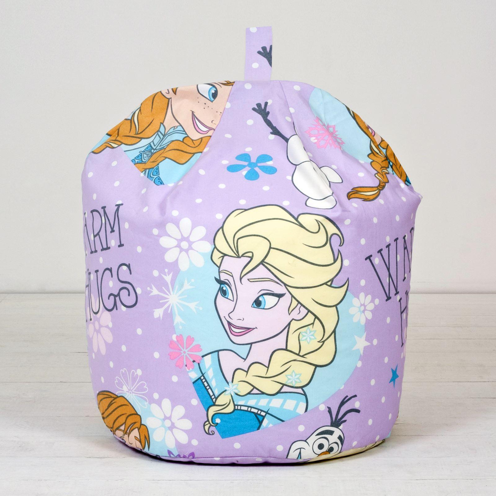 Disney-Frozen-Elsa-Anna-Olaf-Kids-Childrens-Girls-Purple-Bean-Bag-Refill-Cover