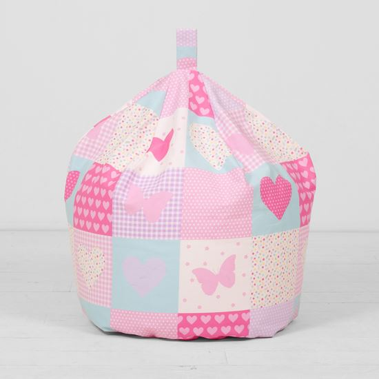 Girls-Boys-Childrens-Kids-100-Cotton-Seat-Chair-Beanbag-Bean-Bag-With-Filling