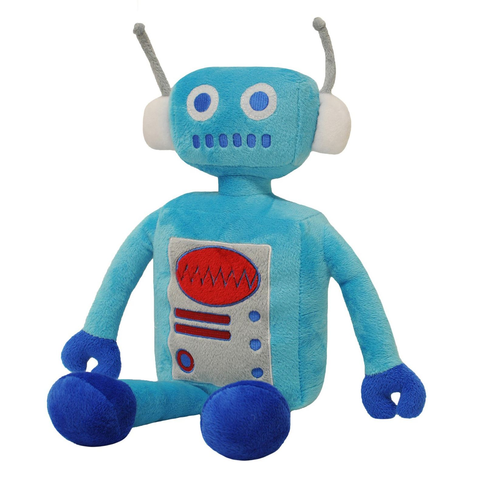 Little Big Cloud Robot Blue Red Kids Childrens Cushion Decoration