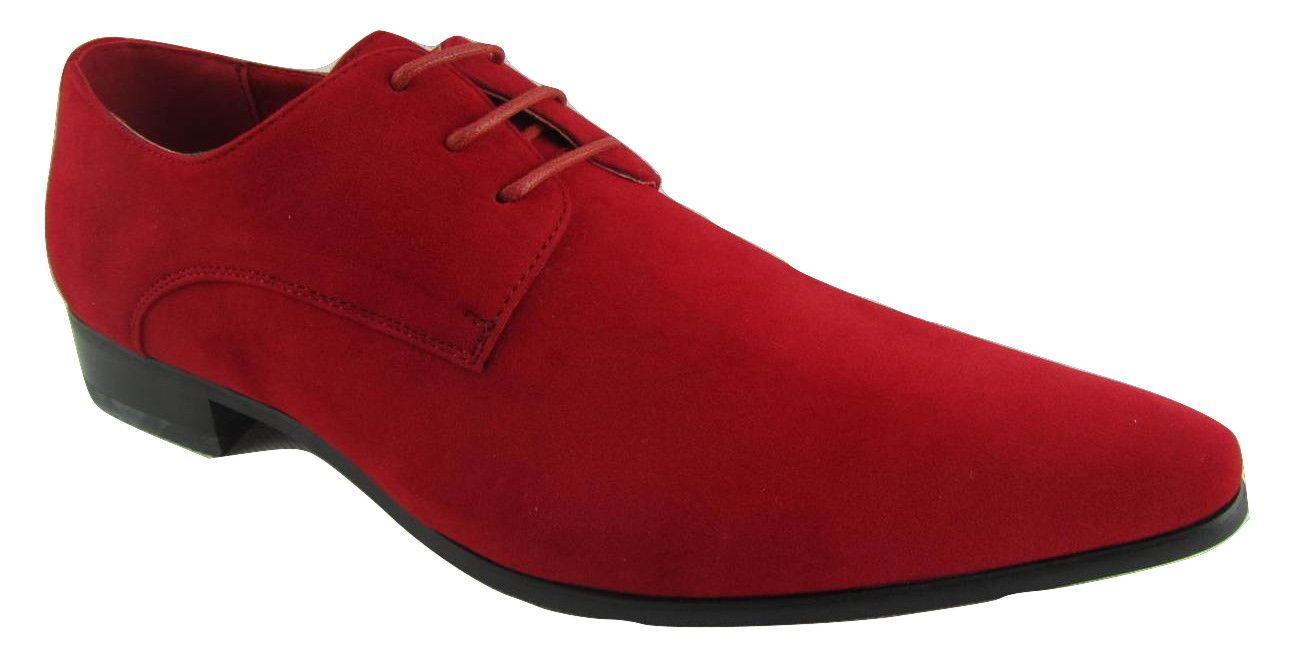 Scarpe DA UOMO Rossellini Azzurra Rosso In Finta casual Pelle Scamosciata Lacci Scarpa casual Finta a punta 561525