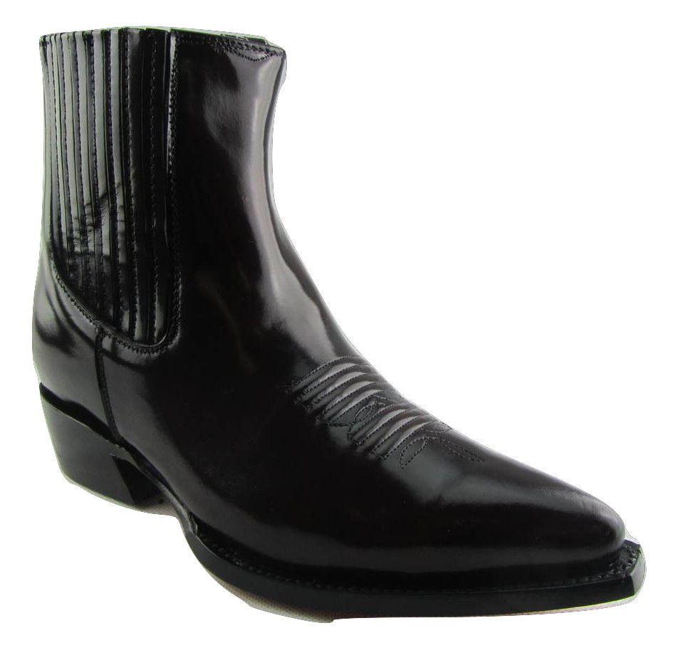Grinders Austin Men Leather Ankle Zip Burgundy Red Boots Block Heel