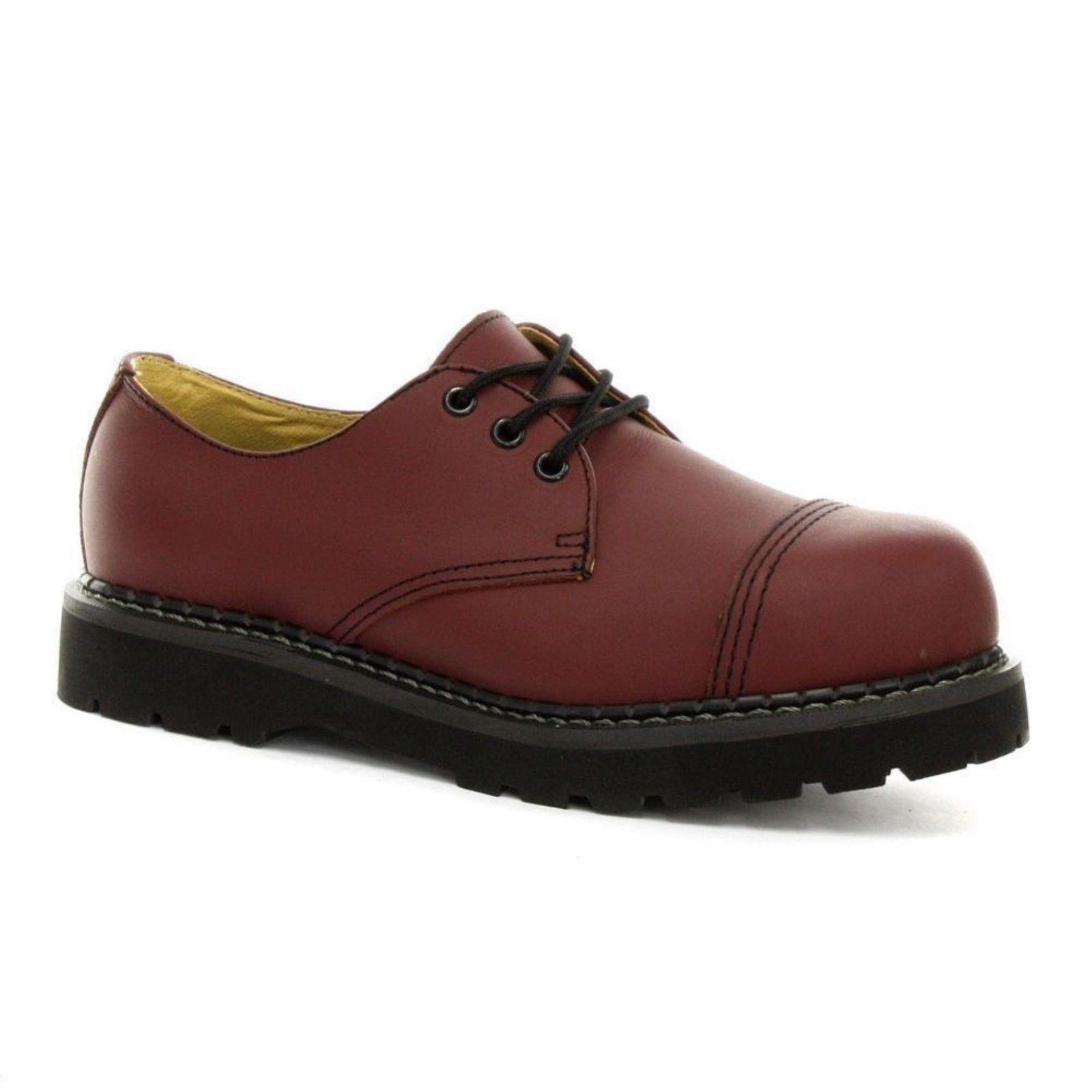 Steel Cap Red Cherry da Unisex Regent Safety donna Boot Leather Scarpe Grinders ICw8qxzA