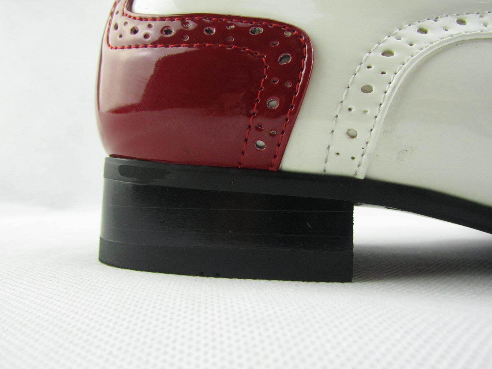 Rossellini PRATO Z2 Uomo Scarpe Lacci CALATA Rosso Bianco a Casual Punta Scarpa Casual a fa813f