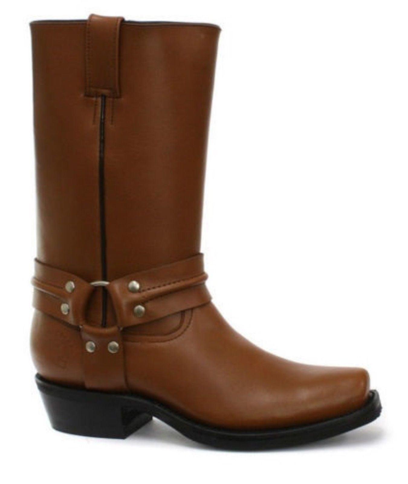 Grinders New Renegade Caoba Hi Biker Tan Caoba Renegade Beige  Leather Boots b0bdaf