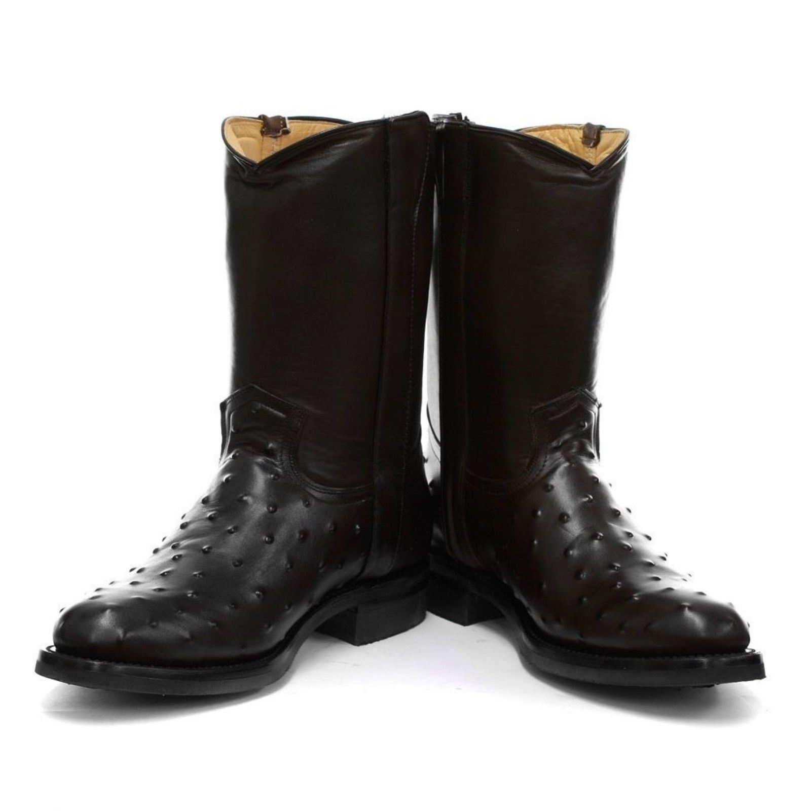 cowboy New pelle Grinders western nera in Vegas Boot da Stivali Mens pelle in zwfxCqwdP