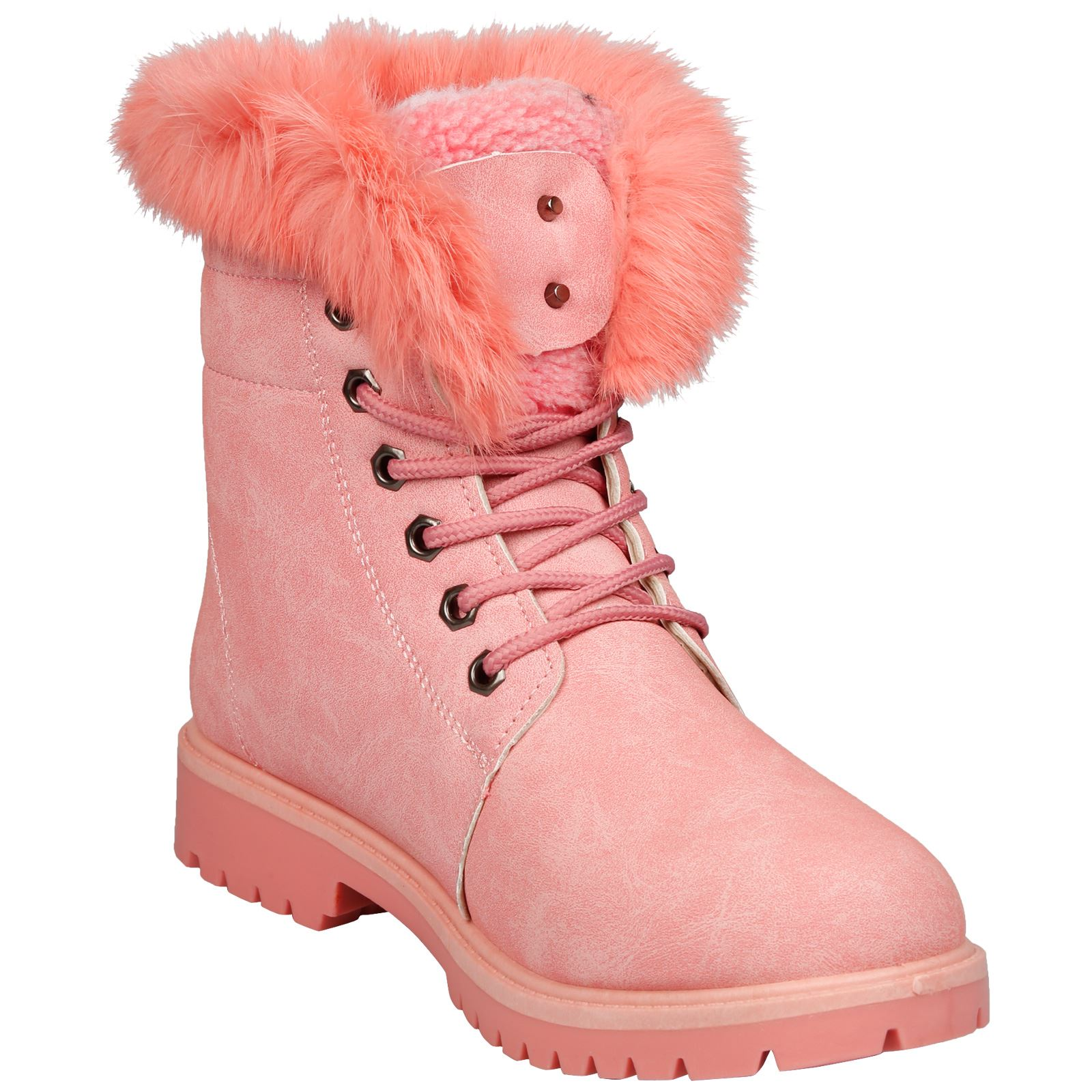 NEW-WOMEN-SHOES-LADIES-FUR-LINED-LOW-HEEL-LACE-UP-ANKLE-BOOTS-CASUAL-STYLE-SIZE thumbnail 17