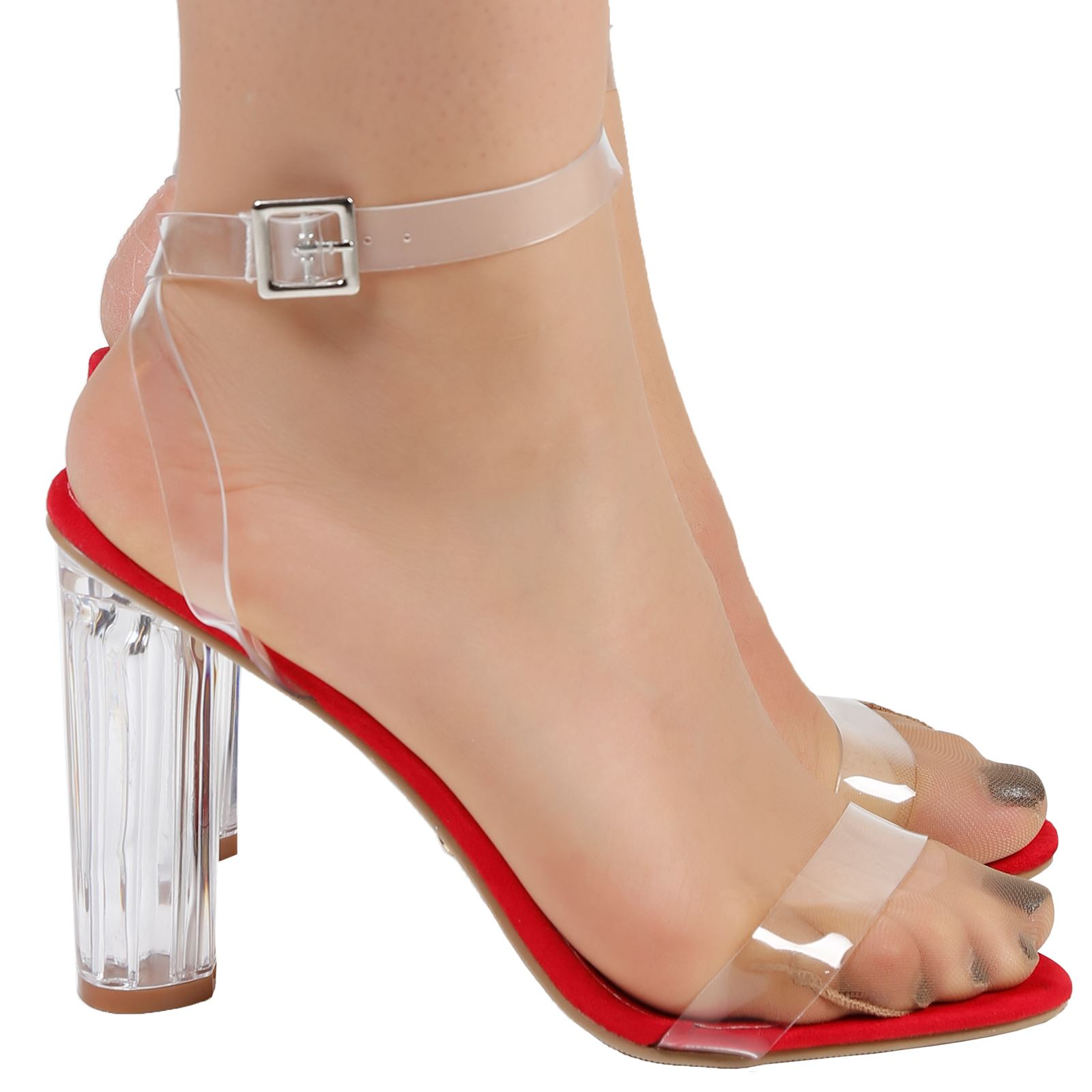Reagan-Womens-High-Clear-Heels-Ankle-Strappy-Open-Toe-Ladies-Sandals-Shoes-Size