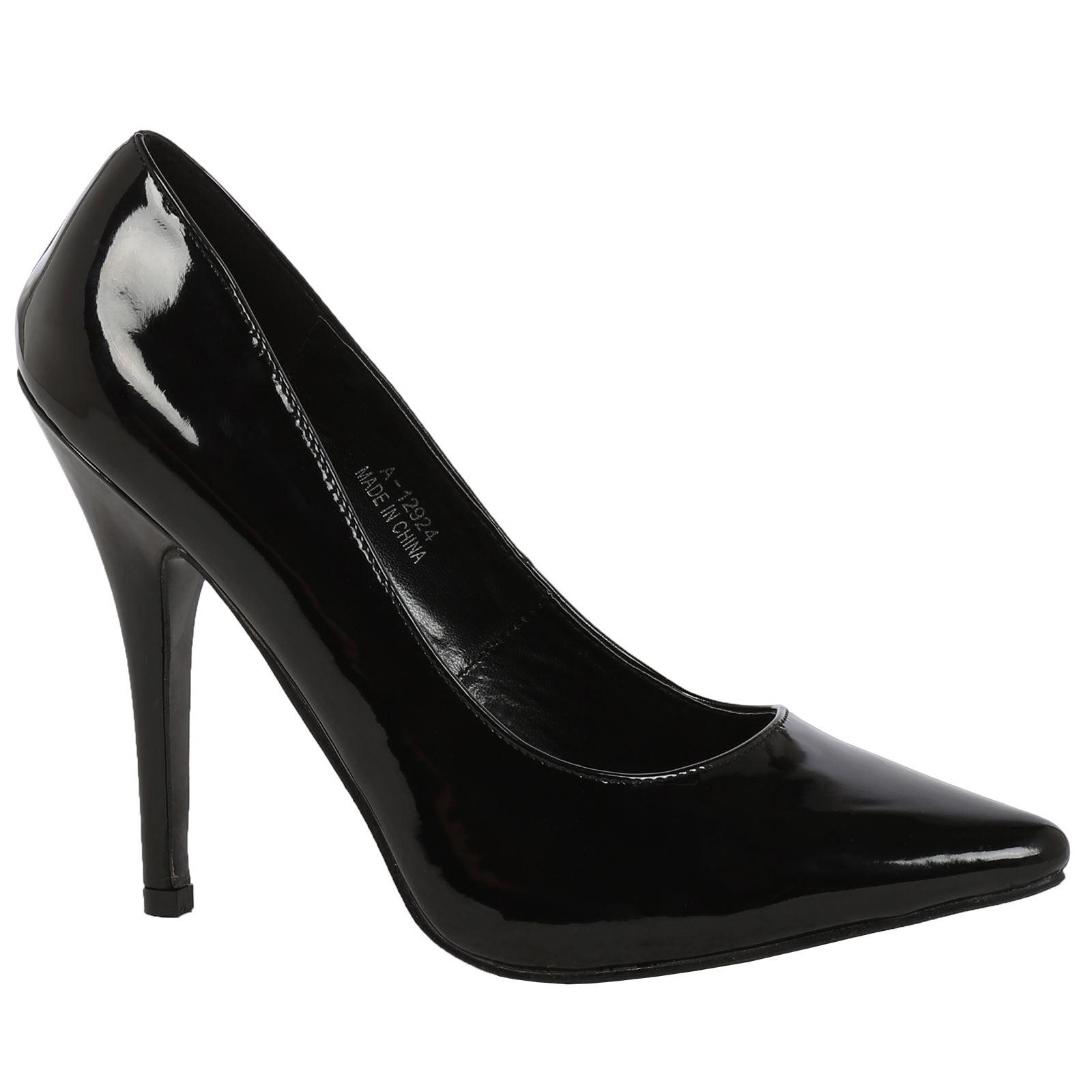 52d2465eaf2 Details about Alex Mens Womens High Heels Stilettos Pointed Toe Court Shoes  Pumps Large Sizes
