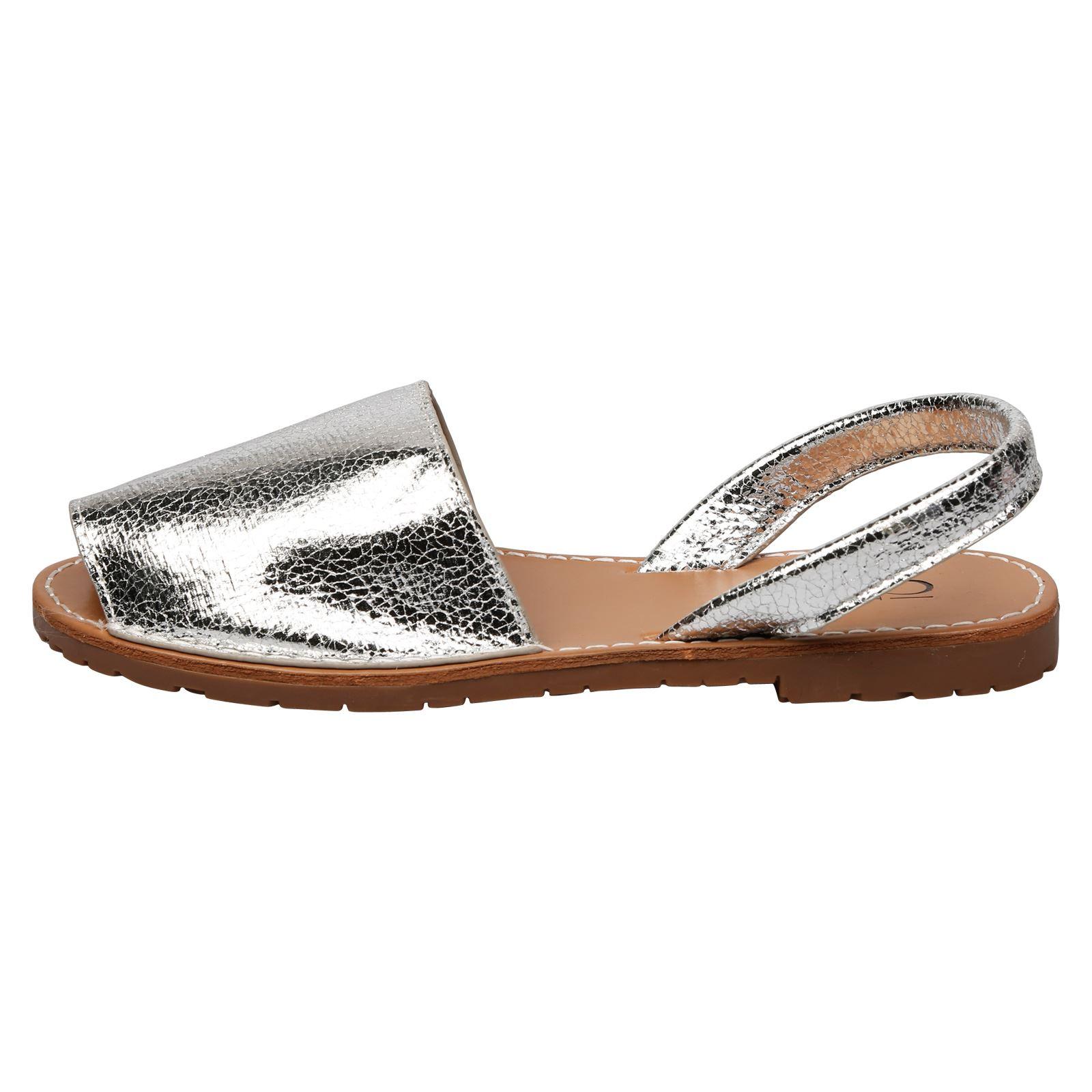 Womens Ladies Summer Menorcan Sandals Sling Back Flip -6141