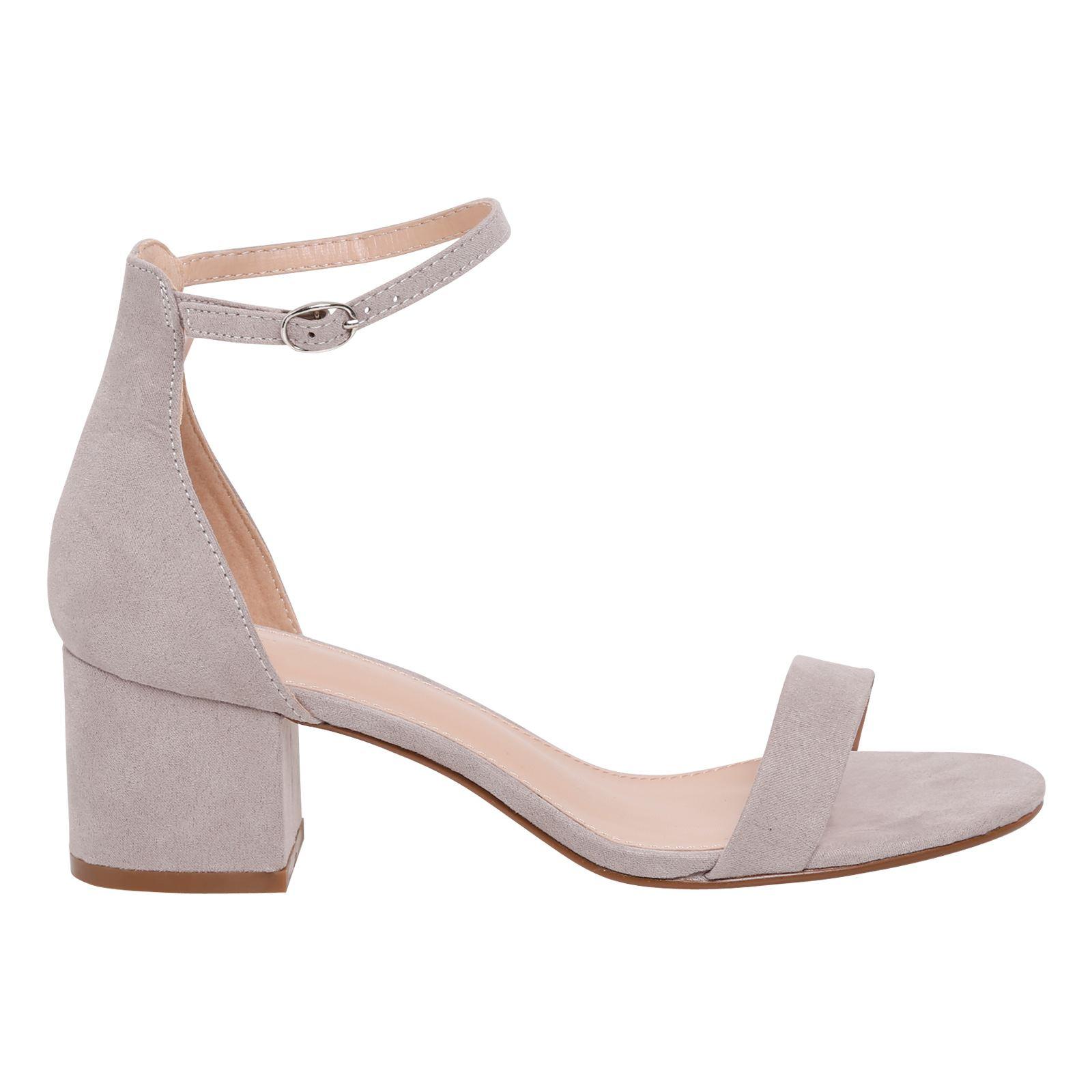 5d3f3d545107 Diana Womens Low Mid Block Heel Peep Toe Ankle Strap Buckle Sandals ...