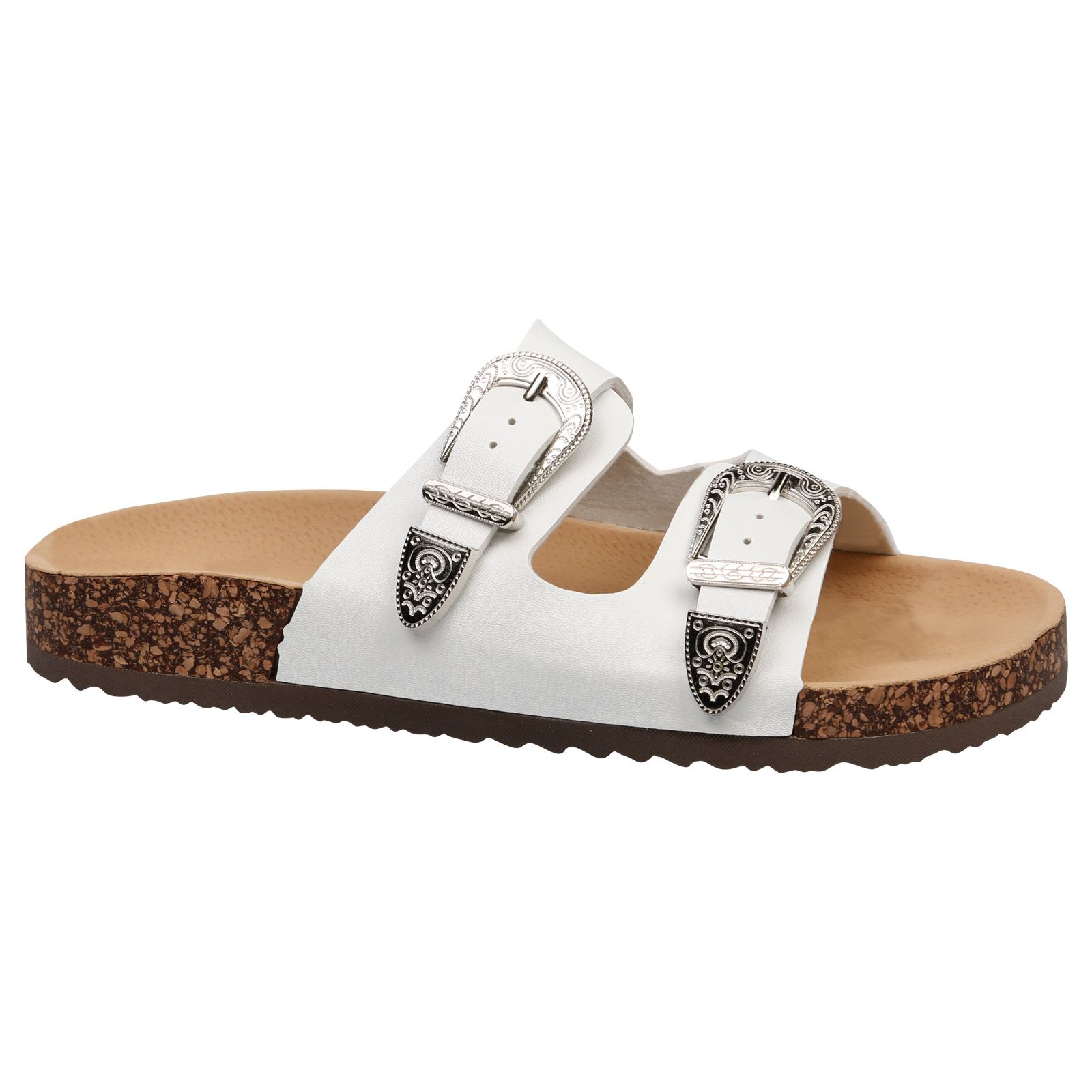 Buckle Footbed Sliders
