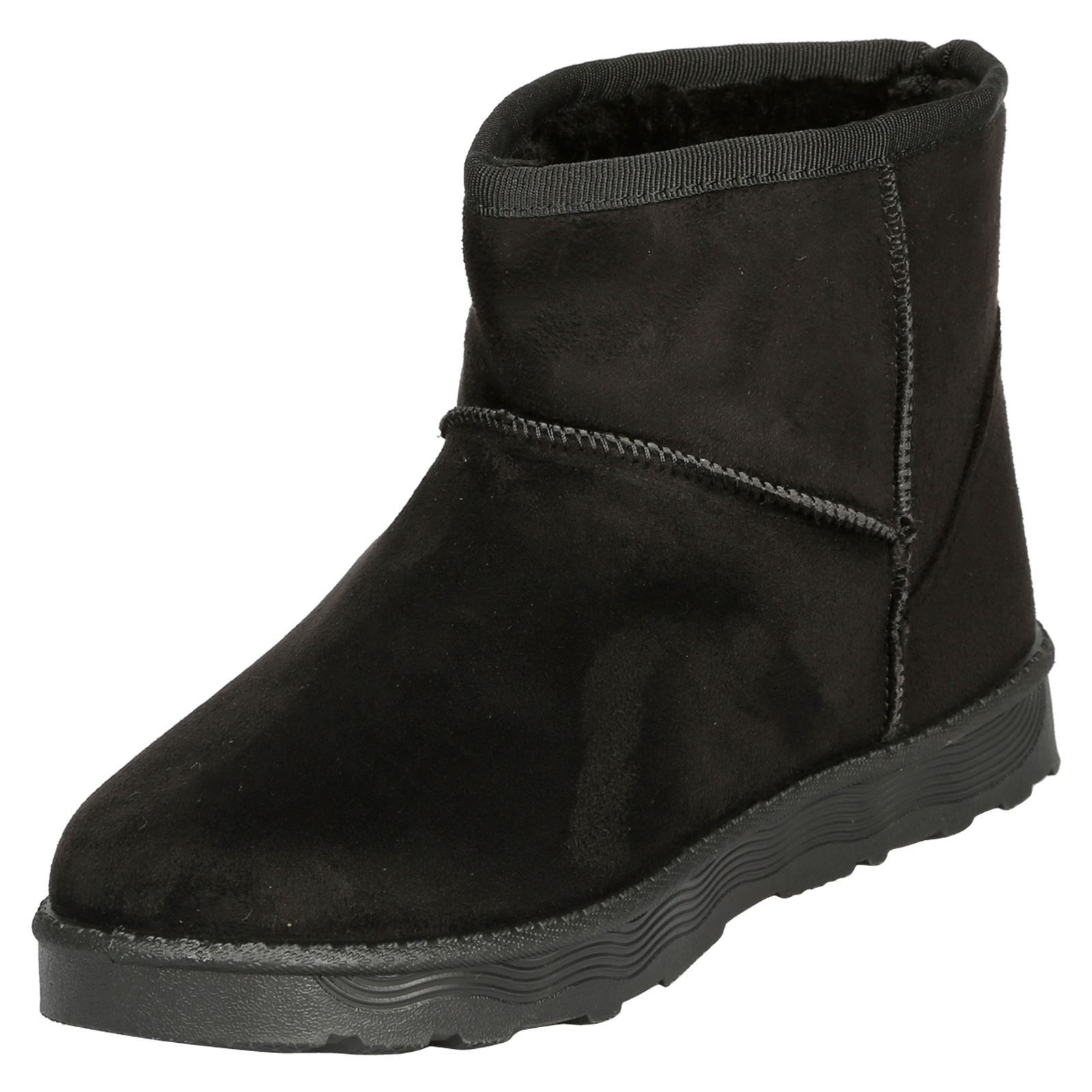 Naomi-Womens-Platfrom-Flat-Fur-Lined-Pull-On-Snug-Snow-Boots-Casual-Ladies-Size thumbnail 4